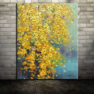 Yellow Orchids Oil Painting 60cm x 90cm