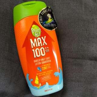 Beach Hut Max SPF100 Sunblock 100ml