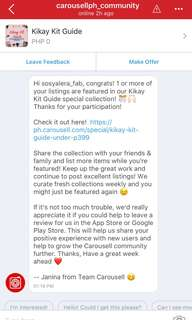 😍Featured! Thanks Carousell😍