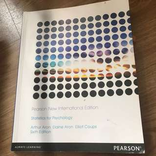 PL2132 Statistics For Psychology Textbook