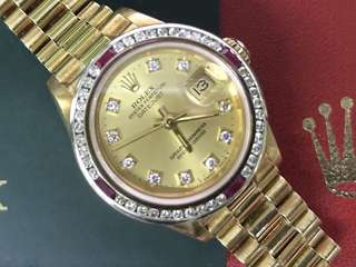Rolex solid gold laey