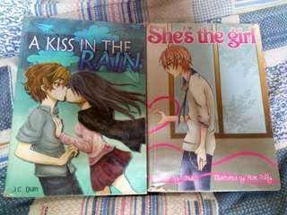 Wattpad Books-Mysterious Guy in the Coffe Shop,  A Kiss In The Rain, I'll be,  She's the girl