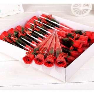 Free shipping ready stock Rose Soap flower Valentine's Day birthday gift present