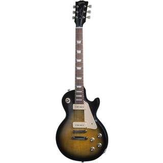 Gibson 2016 Les Paul 60s Tribute T Electric Guitar, Satin Vintage Sunburst w/Dark Back