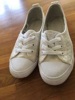 Girls Converse White Shoe