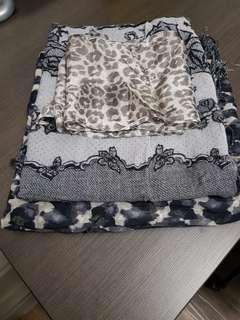 Set of assorted scarves