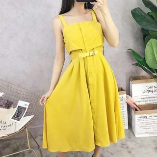 Mustard Yellow Dress (Ready Stock)