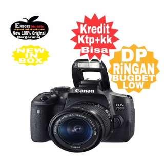 Cicilan Ringan dP 1JT Canon EOS 750D Kit EF-S 18-55mm ditoko ktp+kk wA;081905288895