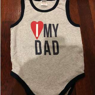 """I love my Dad"" sleeveless romper (12-18 months)"