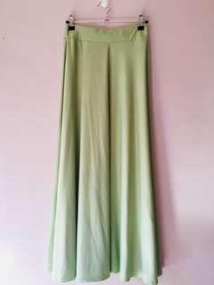 Mint Green Maxi Skirt