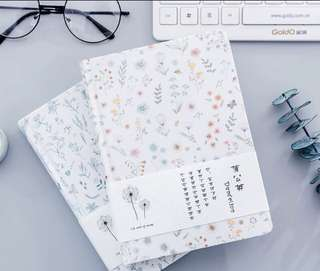 256 Pages Floral Bank Fabric Notebook