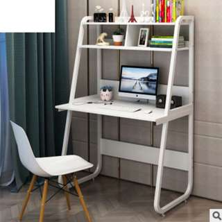 Computer or Study table with Rack (White)