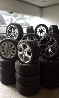 EUROPEAN CONTINATIAL CAR WHEELS RIMS WITH TYRES FOR SALE