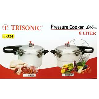 Panci Presto Trisonic Preasure Cooker 8 Liter Ready UK 10 & UK 12 Liter Termurah