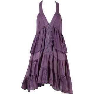 Zara Purple Ruffle Mini Dress