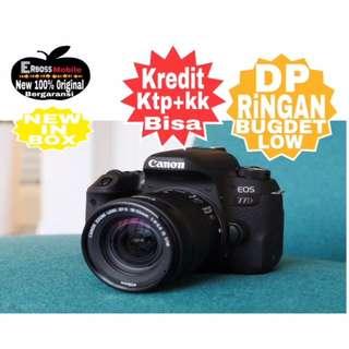 Cicilan Ringan Canon EOS 77D Kit EF-S 18-55mm ditoko ktp+kk bisa wA;081905288895