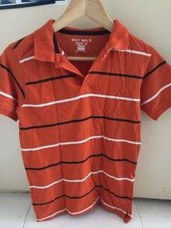 Preloved Orange stripe size 12 polo T