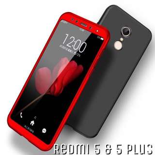 Xiaomi Redmi 5 & 5 Plus 360 Full Cover With Tempered Glass