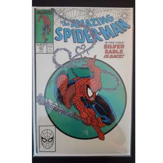 Amazing Spider-Man #301 (1988, 1st Series) Todd McFarlane's Awesomeness !Guest-starring Silver Sable! Homage cover to ASM #300! RARE Must-Have Key-Book, ICONIC!