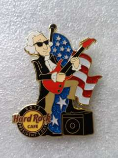 Hard Rock Cafe Pins ~ ONLINE HOT & RARE 2015 PRESIDENT'S DAY (GEORGE WASHINGTON) ROCKIN' OUT PIN!