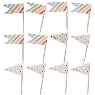 Cupcake flags topper set / Birthday Party / Wedding / baby Shower Decoration