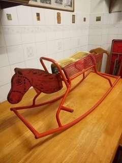 Vintage rocking horse 70s