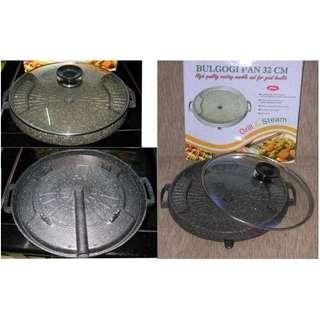 Bulgogi Pan Grill Alat Panggang Steak Sehat Griller Tanpa Arang