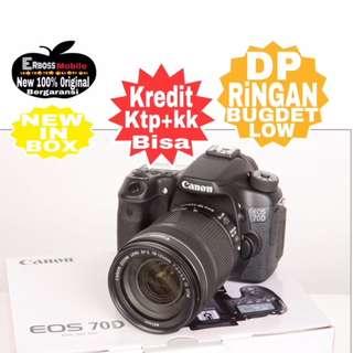 Cicilan Ringan Canon EOS 70D KIT+18-200MM WIFI ditoko ktp+kk bisa Wa;081905288895
