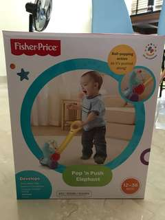 Fisherprice pop n push elephant