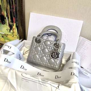 My Lady Dior Bag in Gris Dior Lambskin