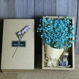 Freeshipping ready stock Baby breath gypsophilla flower bouquet birthday gift present with box