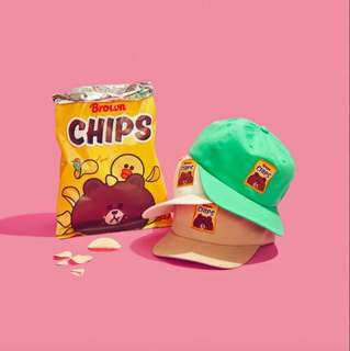 【兩件500免運】近全新 正品熊大洋芋片棒球帽 遮陽帽 帽子 老帽