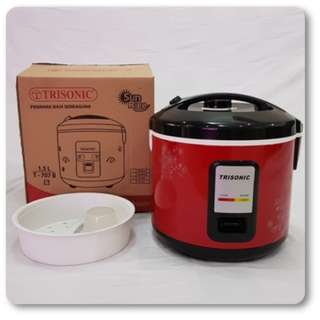 Rice Cooker Besar 1,5 L Trisonic Magic Com Penanak Nasi Berkualitas