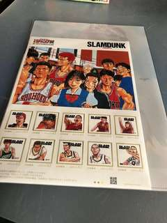 日本JUMP展會場限定 SLAMDUNK郵票+file