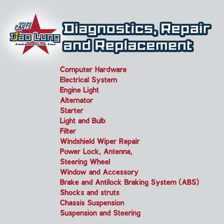 Diagnostic, Repair and Replacement Service