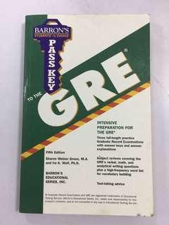 GRE Test Review Book