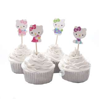 Hello Kitty Cupcake topper birthday party decoration