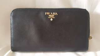 Prada zipper long wallet Authentic