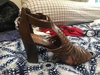 Brown fashion shoes