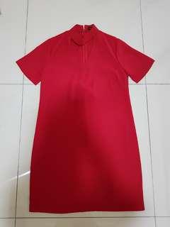 SEED Choker red shift dress