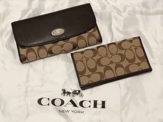*REDUCED*Classic Coach long wallet