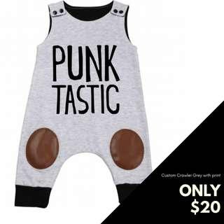Punk rock baby romper