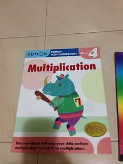 Kumon Grade 4 Multiplication Practice book