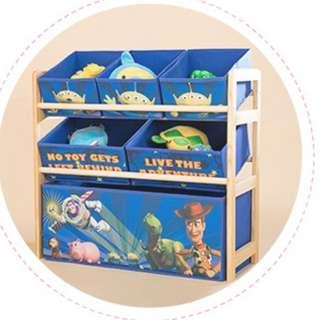 BNIB ! Toddler / Kids Toy Storage Rack [ FULL SET ]  -  Toy Story