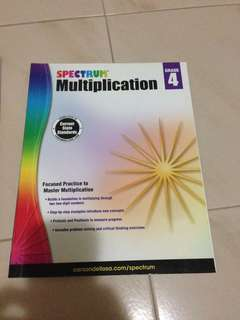 Spectrum Multiplication Grade 4