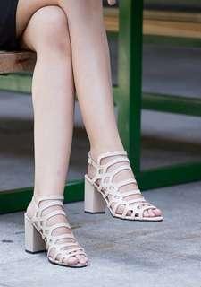 TYRA Cutout Block Heels