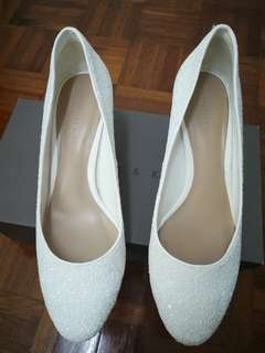 Charles & Keith White Dinner Shoes