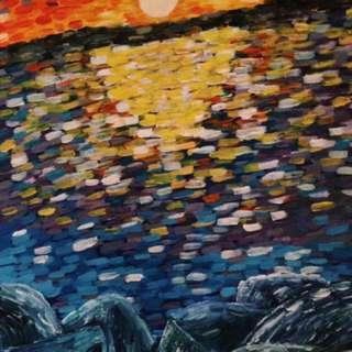 Impressionist Sunset Painting