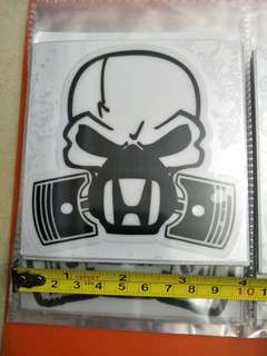 Honda skull  glass decals