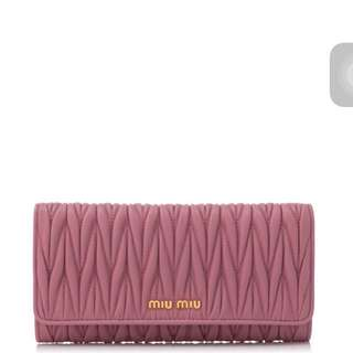 Miu Miu Matelasse Wallet